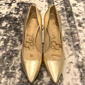 Sam Edelman Gold Heels Size 7 and 1/2